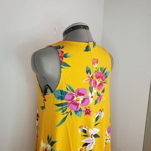 Old Navy Dresses - SOLD: Old Navy floral mustard swing dress
